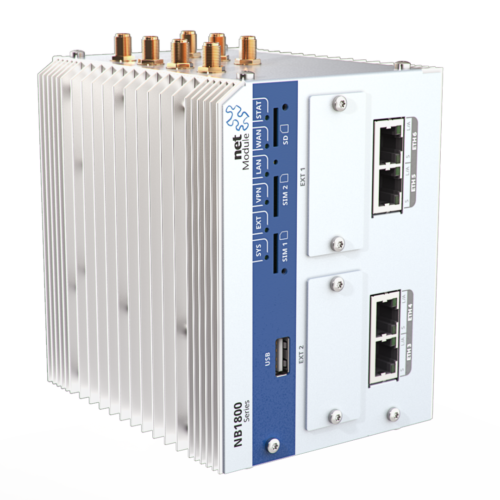 Industrial grade gigabit ethernet router with 4 POE ports NB1810
