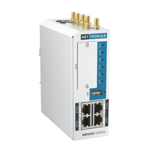 NB1601 Industrial router with 4x fast ethernet and cellular