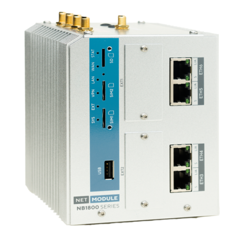 NB1810 industrial gigabit router with 4 PoE ports
