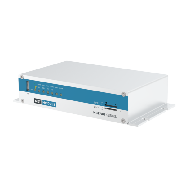 NB2700 compact vehicle WiFi router - left view