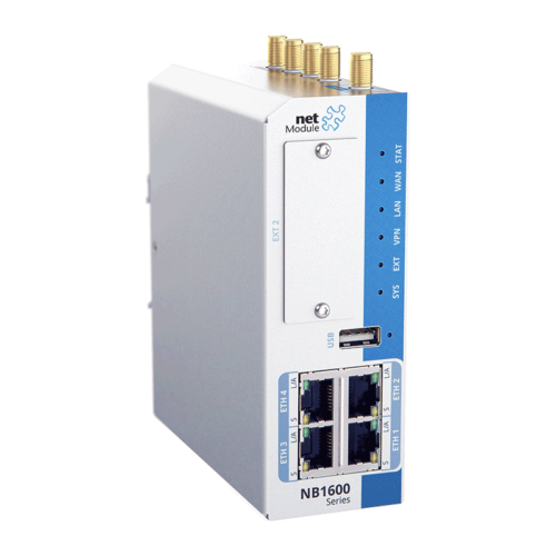 NB1601 industrial router with 4 ethernet ports - featured image